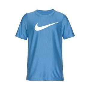 NIKE Funkčné tričko 'DRY SS TOP' s modrými škvrnami / biela vyobraziť