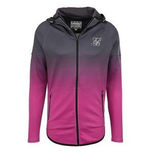 SikSilk Tepláková bunda sivá / ružová vyobraziť