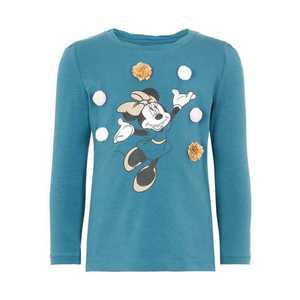 NAME IT Tričko 'Disney Weihnachts Minnie Mouse' modré vyobraziť