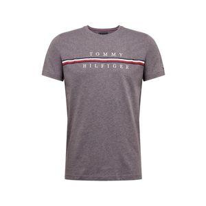 TOMMY HILFIGER Tričko tmavomodrá / sivá melírovaná / ohnivo červená / biela vyobraziť