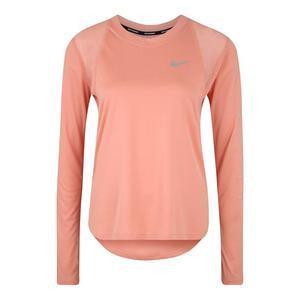 NIKE Funkčné tričko 'W NK DRY MILER LS GX' ružová vyobraziť