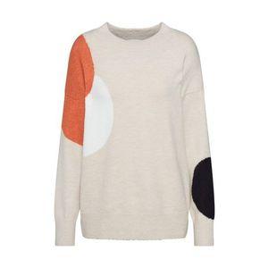 TOM TAILOR Sveter pieskový / oranžová / čierna / biela vyobraziť