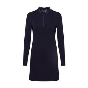 Calvin Klein Jeans Pletené šaty 'NECK LOGO FITTED SWEATER DRESS' čierna vyobraziť
