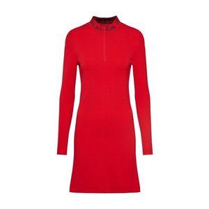 Calvin Klein Jeans Pletené šaty červené / čierna vyobraziť