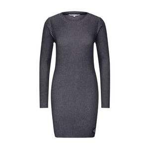 Calvin Klein Jeans Šaty 'LONG SLEEVE RIB DRESS' čierna vyobraziť