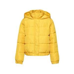 Missguided Zimná bunda 'HOODED PUFFER JACKET' žlté vyobraziť