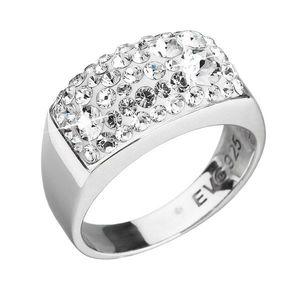 Strieborný prsteň s krištáľmi biely 35014.11 krištál vyobraziť