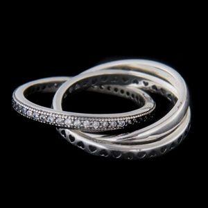 Strieborný prsteň 60888 vyobraziť