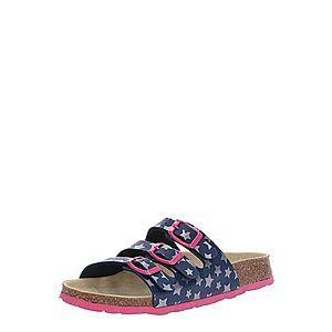 SUPERFIT Sandále tmavomodrá / ružová / strieborná vyobraziť