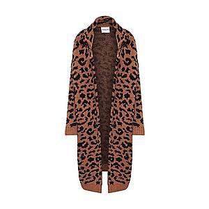 Essentiel Antwerp Pletený kabát 'Tumblr leopard jacquard coat' hnedé / čierna vyobraziť