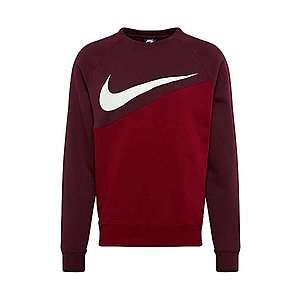 Nike Sportswear Mikina 'NSW Swoosh' bordové / ohnivo červená / biela vyobraziť