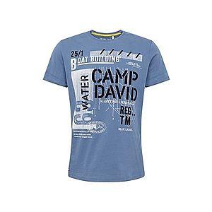 CAMP DAVID Tričko nebesky modrá / čierna / biela vyobraziť