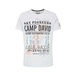 CAMP DAVID Tričko zmiešané farby / biela vyobraziť