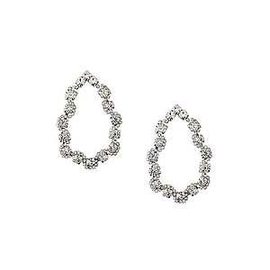 Orelia Náušnice 'Crystal Open Teardrop Earrings' strieborná vyobraziť