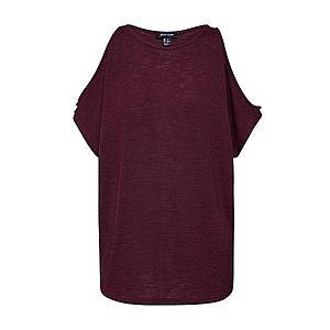 NEW LOOK Tričko 'CS COLD SHOULDER TOP' burgundská vyobraziť
