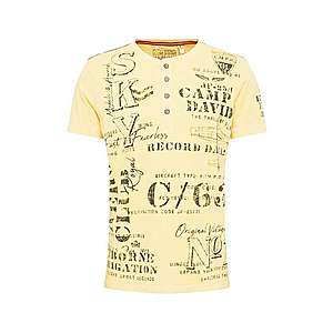 CAMP DAVID Tričko žlté / zmiešané farby vyobraziť
