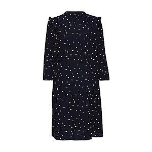 TOM TAILOR DENIM Košeľové šaty čierna / biela vyobraziť