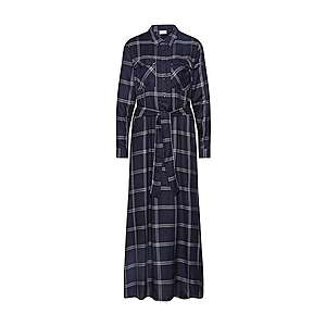 JACQUELINE De YONG Košeľové šaty 'JDYCHECKY' tmavomodrá / sivá vyobraziť