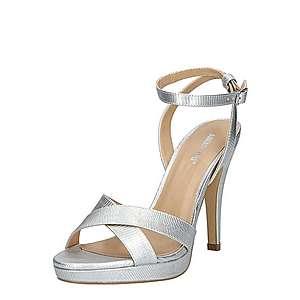 ABOUT YOU Remienkové sandále 'Valentina' strieborná vyobraziť