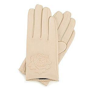 Svetlo-béžové dámske rukavice. vyobraziť