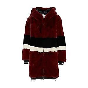 Khujo Prechodný kabát 'YELENA' zmiešané farby / vínovo červená / čierna vyobraziť