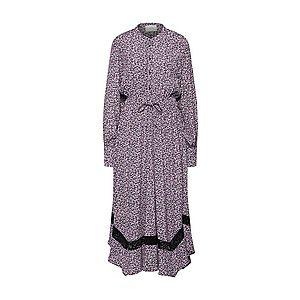 JUST FEMALE Košeľové šaty 'Aida' fialová / čierna vyobraziť