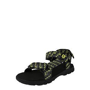 JACK WOLFSKIN Otvorená obuv 'Seven Seas' tmavosivá / limetová / čierna vyobraziť