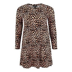 New Look Curves Šaty 'Leopard Soft Touch' hnedé / žlté vyobraziť