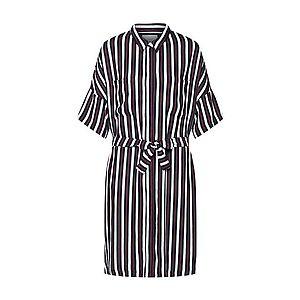 JUST FEMALE Košeľové šaty 'Gabriel' čierna / biela vyobraziť