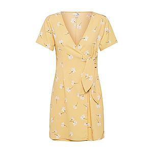 Amuse Society Šaty 'Elena' žlté / biela vyobraziť