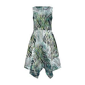 Closet London Letné šaty zelená / biela vyobraziť