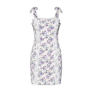GLAMOROUS Šaty levanduľová / biela vyobraziť