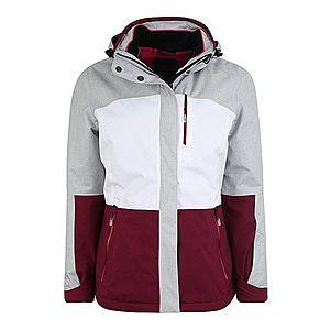 KILLTEC Outdoorová bunda 'Sewia' svetlosivá / bordové / biela vyobraziť
