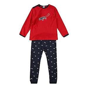 SANETTA Pyžamo modré / karmínovo červená vyobraziť