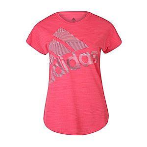 ADIDAS PERFORMANCE Funkčné tričko 'Badge of Sport' ružová / biela vyobraziť