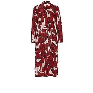 S.Oliver BLACK LABEL Košeľové šaty ružová / červené / čierna vyobraziť