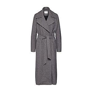 JUST FEMALE Prechodný kabát 'Kenza' čierna / biela vyobraziť