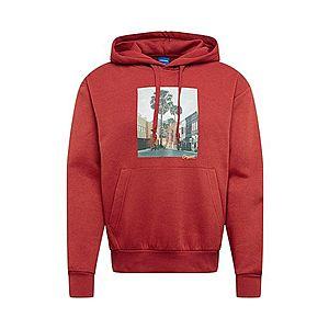 JACK & JONES Mikina 'TRAIL' zmiešané farby / hrdzavo červená vyobraziť