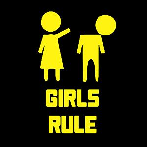 Smešna majica girls rule vyobraziť