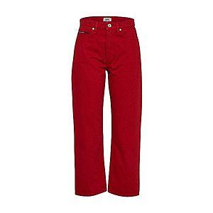 Tommy Jeans Džínsy červené vyobraziť