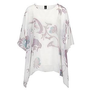 Heine Oversize tričko levanduľová / prírodná biela vyobraziť