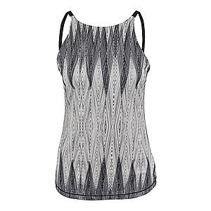 Prana Športový top 'Emsley' sivá / čierna / biela vyobraziť