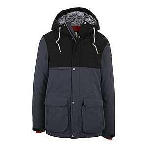 ICEPEAK Outdoorová bunda 'TIMON' tmavosivá / čierna vyobraziť