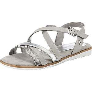 TOM TAILOR Remienkové sandále strieborná / biela vyobraziť