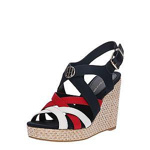TOMMY HILFIGER Remienkové sandále 'Iconic Elena' modré / červené / biela vyobraziť