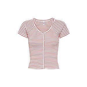 ONLY Tričko 'onlfCAMI S/S TOP JRS' červené / biela vyobraziť
