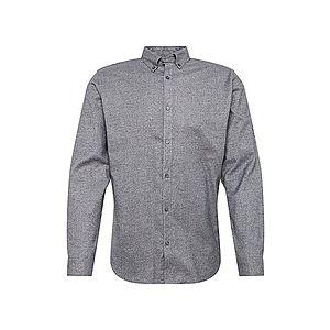 JACK & JONES Košeľa sivá melírovaná vyobraziť