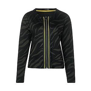 STREET ONE Tepláková bunda čierna / žltá melírovaná / kaki vyobraziť