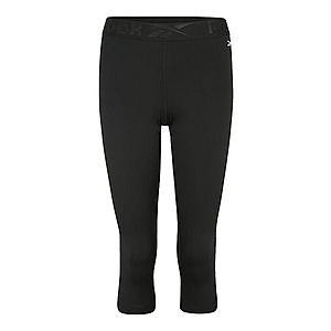 REEBOK Športové nohavice tmavosivá / čierna vyobraziť