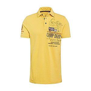 CAMP DAVID Tričko tmavomodrá / žlté vyobraziť